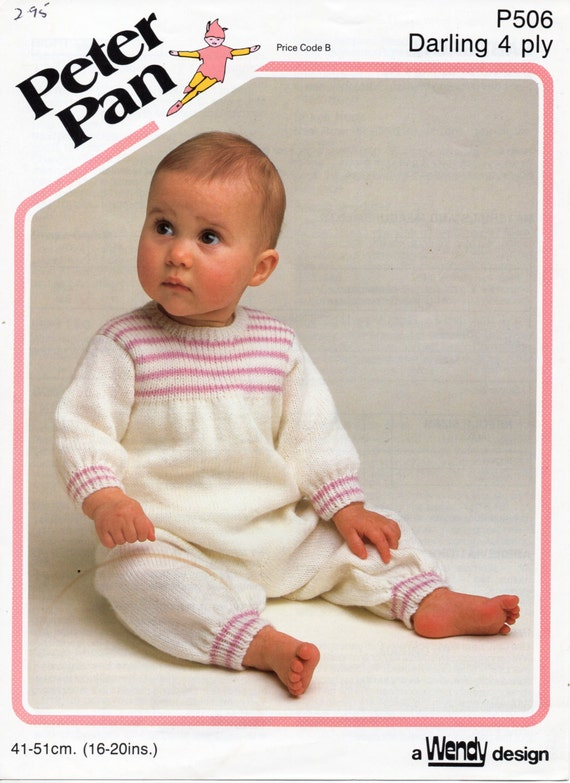 Knitting Pattern Baby All In One : baby 4ply all in one knitting pattern pdf rompers romper suit