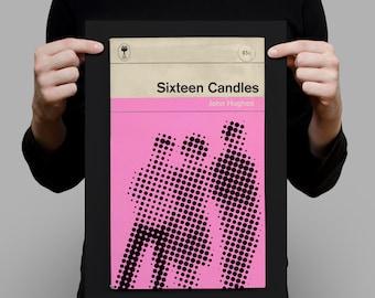 SIXTEEN CANDLES Movie Poster Sixteen Candles Poster Sixteen Candles Print John Hughes Poster John Hughes Print Penguin Classics Print Ribba