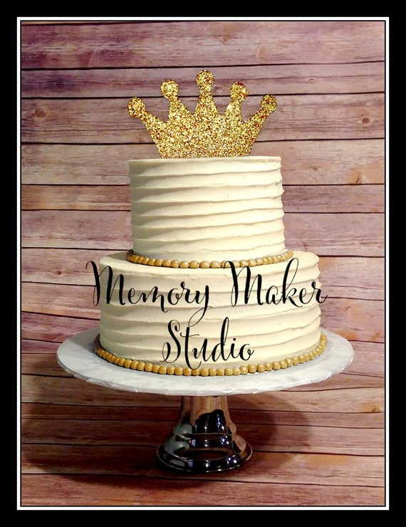 Gold Glitter Crown Cake topper IN STOCK for 1st Birthday 2nd