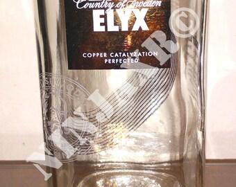 Absolut ELYX Vodka bottle vase jar