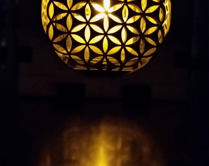 Sacred Geometry, Flower of Life, Luminary, Candle Holder