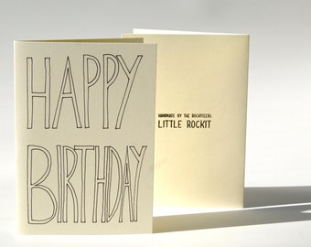 Handmade 'Happy Birthday' Card