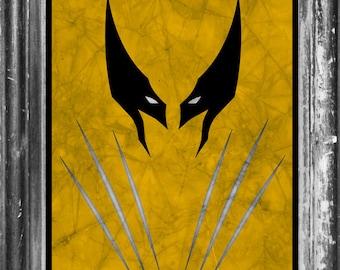 Wolverine Xmen Marvel Minimalist Art Poster Print