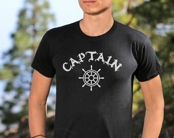 Captain Nautical  Sail Boat Navy Ship Boats Anchor Sailing Team Crew T-shirt