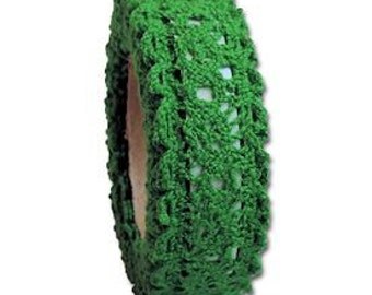Adhesive Lace Tape in Red or Green. Simplify Your Projects Beautifully!  Fabric Lace Tape.  Add Dimension to Gifts, Cards, Planners and More