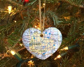 Minneapolis Map Ornament