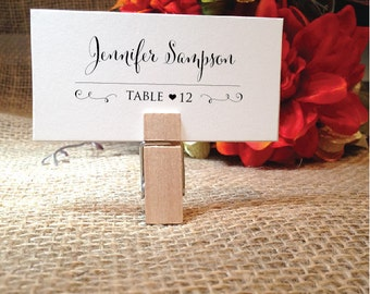 wedding place cards wedding table cards placecards escort cards name cards stylish clip