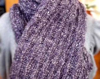 Violet Fluffy Soft Winter Warm Scarf