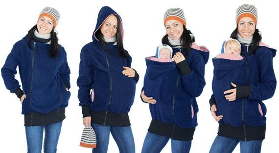 4in1 Kangaroo maternity hoodie with babywearing function - handmade ...