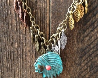 Clearance! Indian Chief // Native American Necklace
