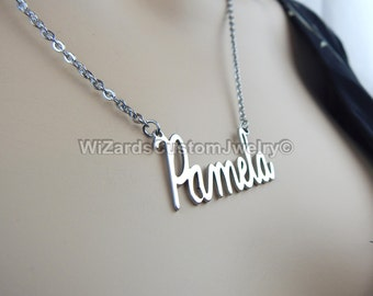 Necklace Name Pendant - Custom Made Stainless Steel