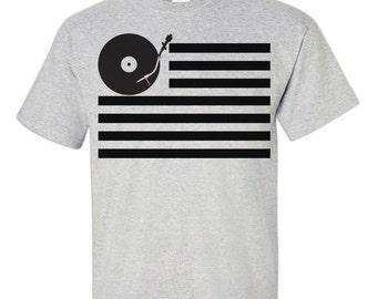 DJ T-Shirt / Disc Jockey shirt / Disc Jockey t-shirt / The Dj / DJ Shirt / DJ Gift / Turn Table Flag / 169