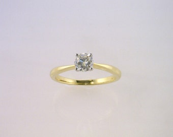 14kt Yellow Gold Engagement Ring with 0.54ct Brilliant Cut Diamond