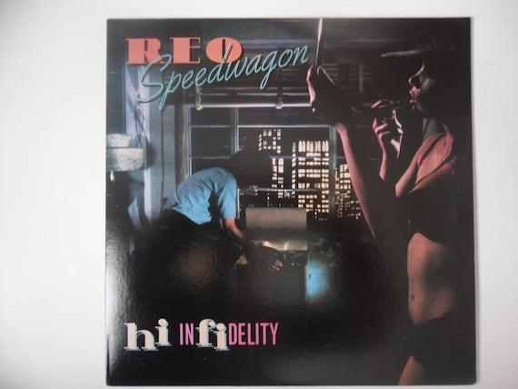 items similar to reo speedwagon hi infidelity lp record album on etsy. Black Bedroom Furniture Sets. Home Design Ideas