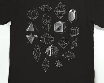 Geometric Shapes T-shirt - Men's Graphic Tee Shirt - Geometric Math Art Tshirt