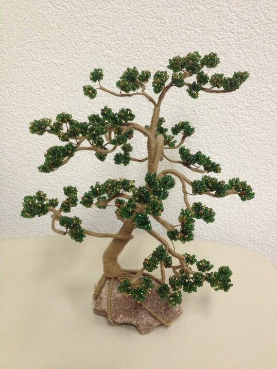 hnliche artikel wie perlen b ume bonsai aus perlen. Black Bedroom Furniture Sets. Home Design Ideas
