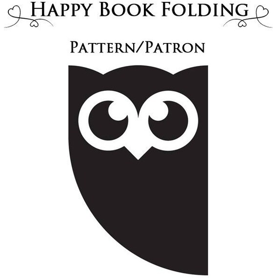 patron livre pli hibou tutorial gratuit par happybookfolding. Black Bedroom Furniture Sets. Home Design Ideas