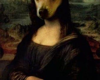 Mona Lisa - with custom pet portrait