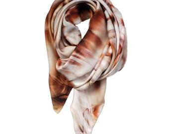 Silk scarf, Printed Scarf, Scarf Print, scarf shawl, designer silk scarf, scarves and shawls, neck scarf, square scarves, light pink scarf