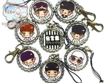 BTS white hoodie (BANGTAN BOYS) Kpop plug / phone strap / charm / keychain