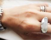 Mystical - Clear Quartz Crystal Geode Ring