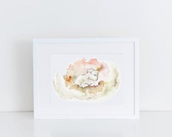 Nursery Print, Animal, Wall decor, Sheep, Lamb, Zoo Theme, Watercolor, Baby, Unisex gift  - Instant Download, multiple sizes