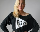 Womens Slouchy Pizza Party Sweatshirt Valentines Day gift for her American Apparel Pullover gift for women gift for teen gift for her