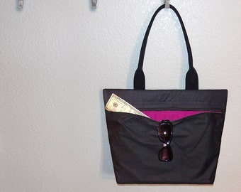 Add 2 (TWO) zippered internal pockets to your tote bag or MINI tote bag