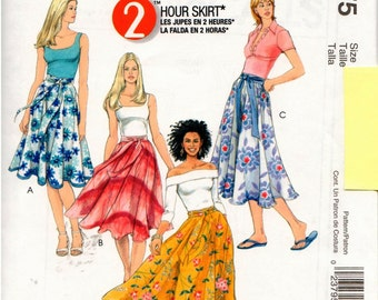 McCall's Pattern M4875 - Misses 2-Hour Skirt - 14-20 - UNCUT