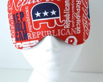 Political Republican Travel/Sleep/Eye Mask ~ Light Blocking ~ MADE TO ORDER