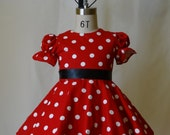 Minnie Mouse dress costume sizes 1-6