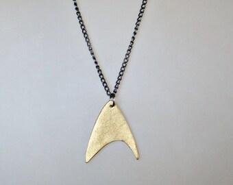 Star Trek Communicator Necklace, Star Trek Gift, Geek Gift for her, Star Trek Jewelry, Geek Jewelry