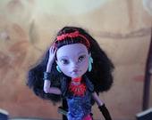 One of a Kind Repainted Doll, High Fashion Monster Doll, Never Plain Jane, Custom OOAK Repaint, Art Doll