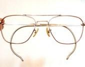 Big Gold Aviators Vintage GF AO American Optical Original Aviator Eyeglass Sunglas Metal Driver Shooter Optical Quality 1/10 12K GF