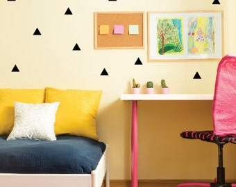 Triangle Wall Decals, Peel And Stick Wall Stickers, Triangle Decals, Kids  Wall Decals Part 84
