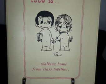 1973 Kim Grover LOVE IS...Walking home from class together three ring binder