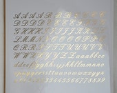 Cursive Letter Ceramic Decals, Glass Decals or Enamel Decals