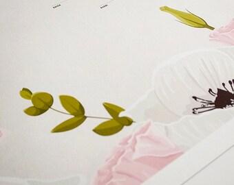 NEW Ketubah Giclée Print by Jennifer Raichman - Blushing