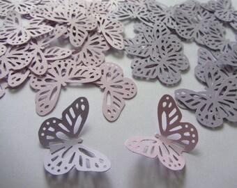 Paper butterflies 50 die cut butterflies, die cuts, wedding decorations, scrapbooking, weddings, light purple butterfly