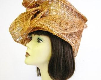 1910's Sculptural Straw Hat