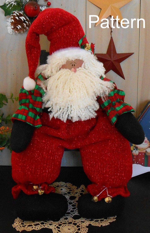 Pdf E Pattern Christmas Santa Doll 91 Primitive Raggedy