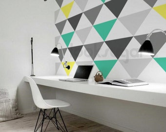 Large Triangle Wall Decals - Triangle Wall Pattern - AP0020