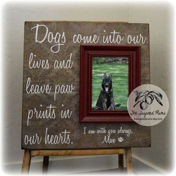 Sympathy Dog Quotes: Dog Picture Frame Gift Memorial Sympathy Gift By