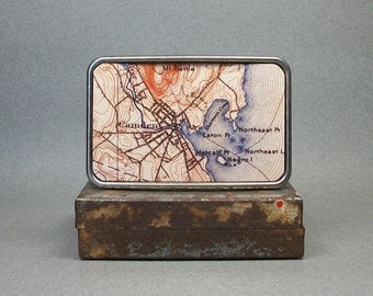 Belt Buckle Camden Maine Vintage Map for Men or Women