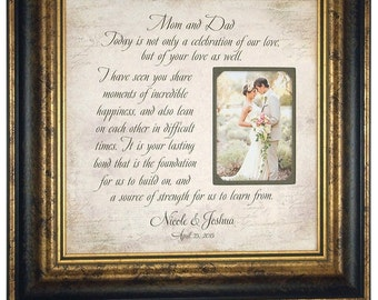 Wedding Gift for Parents, Mother of the Bride Gift, 16x16
