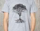 Tree Diagram and Schematics T-Shirt- Men's Screen Printed Graphic Tee - All Sizes Available