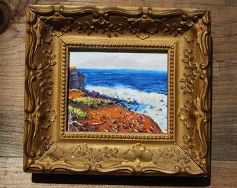 Oil Painting, Coastline Near Hawi, Hawaii