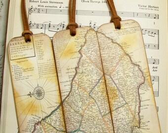 World map bookmark etsy barbados island map bookmark set gifts for him barbados 1736 historical map bookmarks for men set gumiabroncs Images