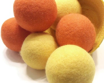 Wool Dryer Balls - CUSTOM COLORs - Felted Wool Dryer Balls - Eco Friendly Wool Dryer Balls - Complimentary Scent or Unscented