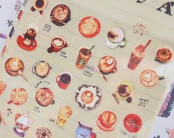 Coffee Art Sticker (1 Sheet)